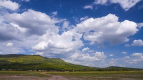 Landscape of cloud and blue sky stock footage