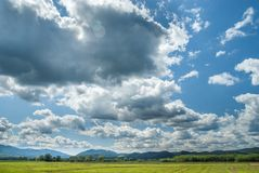 landscape with clouds Stock Photos