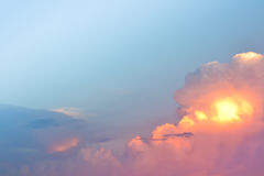 Landscape of clouds in the blue sky Royalty Free Stock Image