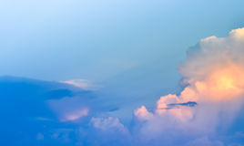 Landscape of clouds in the blue sky Stock Photos