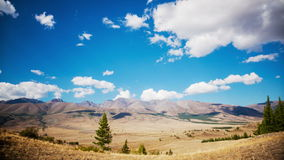 Landscape and Clouds stock video footage