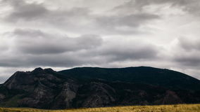 Landscape and Clouds. Mountains of the Kazakhstan, TimeLapse 4K, UHD stock video footage