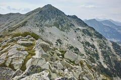 Landscape with Clouds over Kralev Dvor Peak, Pirin Mountain Royalty Free Stock Images