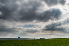 Landscape - clouds over Wiltshire, England. Cloudy image stock images