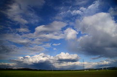 Landscape with clouds in the sky Stock Images