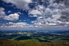 Landscape with clouds Stock Images