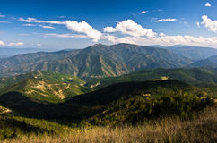 Landscape and cloudscape of Troglav mountain at late summer. West Serbia Royalty Free Stock Images