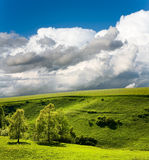 Landscape and cloudy sky Stock Photography