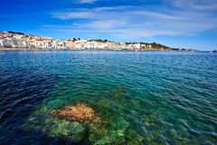 Landscape of the coast of Cadaques Spain Royalty Free Stock Photos
