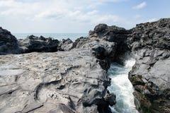 Landscape of coast in Jeju, Korea. Royalty Free Stock Photo