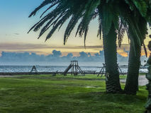 Landscape Coast of Montevideo. Beautiful landscape scene of park at the coast in the city of Montevideo, the capital of Uruguay Stock Images