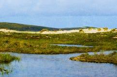 Landscape on the coast Stock Photography