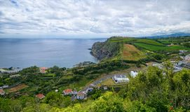 Landscape of coast of Sao Miguel island, Azores, Portugal Royalty Free Stock Image