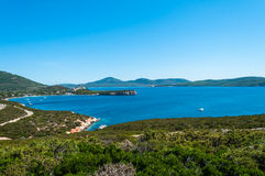Landscape of coast of Sardinia. Gulf of Capo Caccia Royalty Free Stock Photo