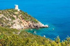 Landscape of coast of Sardinia. Gulf of Capo Caccia Royalty Free Stock Images