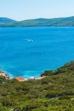 Landscape of coast of Sardinia. Gulf of Capo Caccia Stock Photos