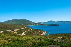 Landscape of coast of Sardinia. Gulf of Capo Caccia Royalty Free Stock Photos