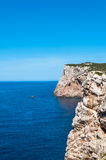 Landscape of coast of Sardinia. Gulf of Capo Caccia Royalty Free Stock Image
