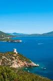 Landscape of coast of Sardinia. Gulf of Capo Caccia Stock Images