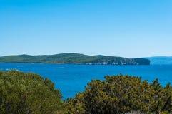 Landscape of coast of Sardinia. Gulf of Capo Caccia Stock Image