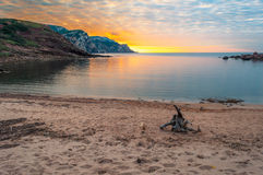 Landscape of the coast of Sardinia, Porticciolo. At sunset Royalty Free Stock Photos