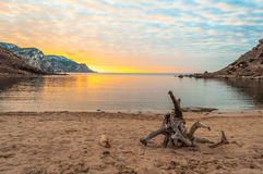Landscape of the coast of Sardinia, Porticciolo. At sunset Royalty Free Stock Images