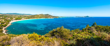 Landscape of coast of Sardinia - Villasimius Royalty Free Stock Photo