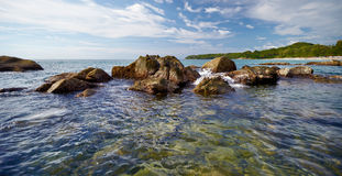 Landscape - the coast of tropical ocean Royalty Free Stock Photo