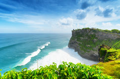 Coast at Uluwatu temple, Bali, Indonesia stock image