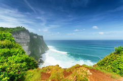 Coast at Uluwatu temple Stock Image