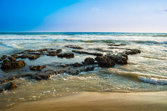 Landscape of the coast of Varkala. India Royalty Free Stock Photos