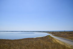 The landscape of the coastal estuary in the sea Stock Photos