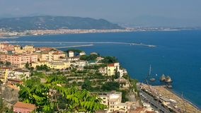 Landscape from the coastal. Landscape, coastal, postcard, sea, sky, Salerno, Vietri sul Mare, colors, tourism, travel Royalty Free Stock Images
