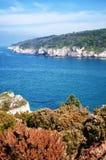Landscape with coastline Stock Images