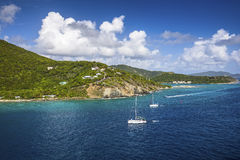 Landscape of the coastline of the British Virgin Islands Royalty Free Stock Photos