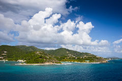 Landscape of the coastline of the British Virgin Islands Royalty Free Stock Photo