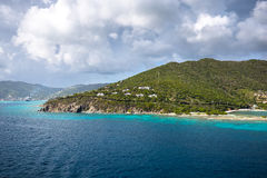 Landscape of the coastline of the British Virgin Islands Royalty Free Stock Images