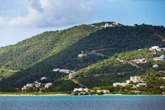 Landscape of the coastline of the British Virgin Islands Stock Photo