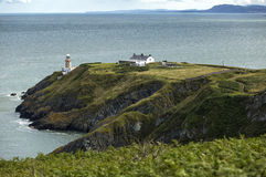 The landscape with coastline and a lighthouse of Howth Head, Ireland. Stock Images