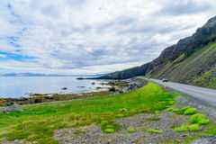 Landscape and coastline, in the west fjords region Royalty Free Stock Photos