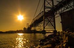 Hercilio Luz Bridge stock photo
