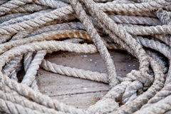Boating Rope Coil Stock Image
