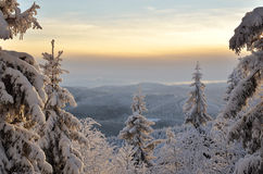 Cold Mountain Winter. Landscape in cold mountain winter royalty free stock images
