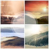 Landscape collage Royalty Free Stock Photos