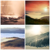 Landscape collage Stock Photography