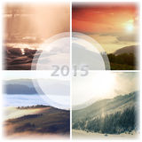 Landscape collage Royalty Free Stock Images