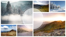 landscape collage Royalty Free Stock Photo