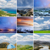 Landscape collection of Taiwan Royalty Free Stock Images