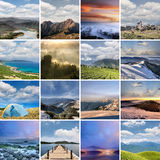 Landscape collection of Taiwan Royalty Free Stock Photo