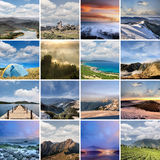 Landscape collection of Taiwan Royalty Free Stock Photos